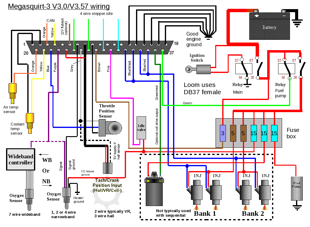 ms3x wiring        megasquirt 325ix com  ms to